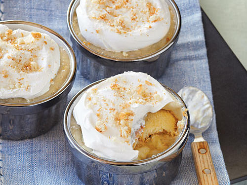 The genius in this recipe is that the bananas are cooked two ways: Some are partially roasted and sliced, so you get sweet bananas that keep their shape. The rest are fully roasted, almost caramelized, so you get bananas with rich, sweet flavor. For a fun presentation, scoop the pudding mixture into pretty ramekins.