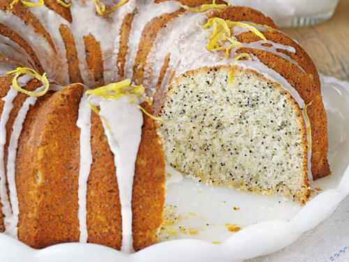 A favorite flavor combination—lemon and poppy seeds—enhances this version of the classic Bundt cake.