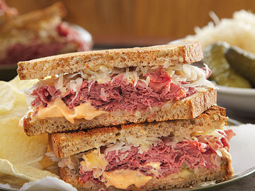 Some people assume the Reuben was created by the owner of Reuben's Restaurant, a celebrity hot spot in New York City where the sandwich was popular. But the truth is that it was invented by Reuben Kulakofsky in Omaha, Nebraska, as a late-night snack for poker-playing friends.