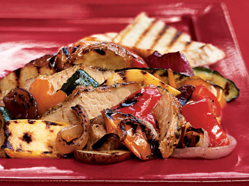 Pork and Grilled Vegetable Salad