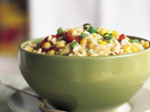 Healthy Monterey Jack, Corn, and Roasted Red Pepper Risotto Recipe