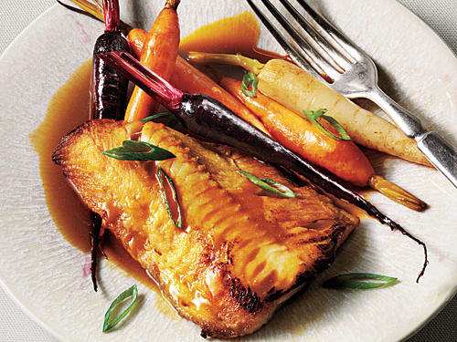 Spend a little more at those specialty stores. Buy beautiful pasta, artisanal cheese, gorgeous finishing salts, or luxury items to keep in the freezer—a nub of pancetta or a tub of demi-glace to make the tasty sauce.View Reciple: Sablefish with Mild Mustard Glace