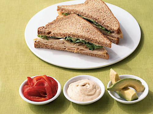 Sliced Turkey Sandwich