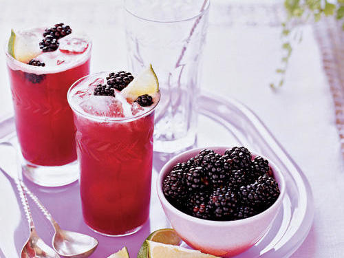 The sweet tang of lime balances the blackberry flavor perfectly, for a refreshing beverage that's perfect over ice. If you're feeling creative, try making the limeade into a base for a cocktail.