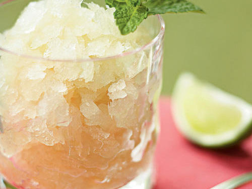 The classic cocktail provides relief from the heat of a Southern summer, so why not freeze and serve it for dessert? Mint-infused simple syrup and smoky-sweet bourbon combine in a slushy delight that's definitely not for kids.