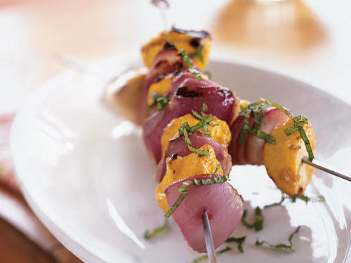 These skewers bring lots of color to any summer meal.