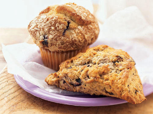 Take Two--Blueberry Scone and Blueberry Muffin