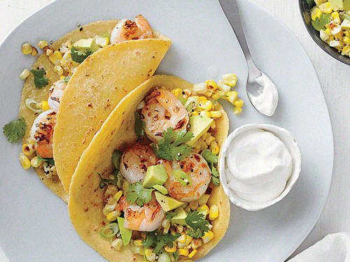 Shrimp Tacos with Corn Salsa recipe