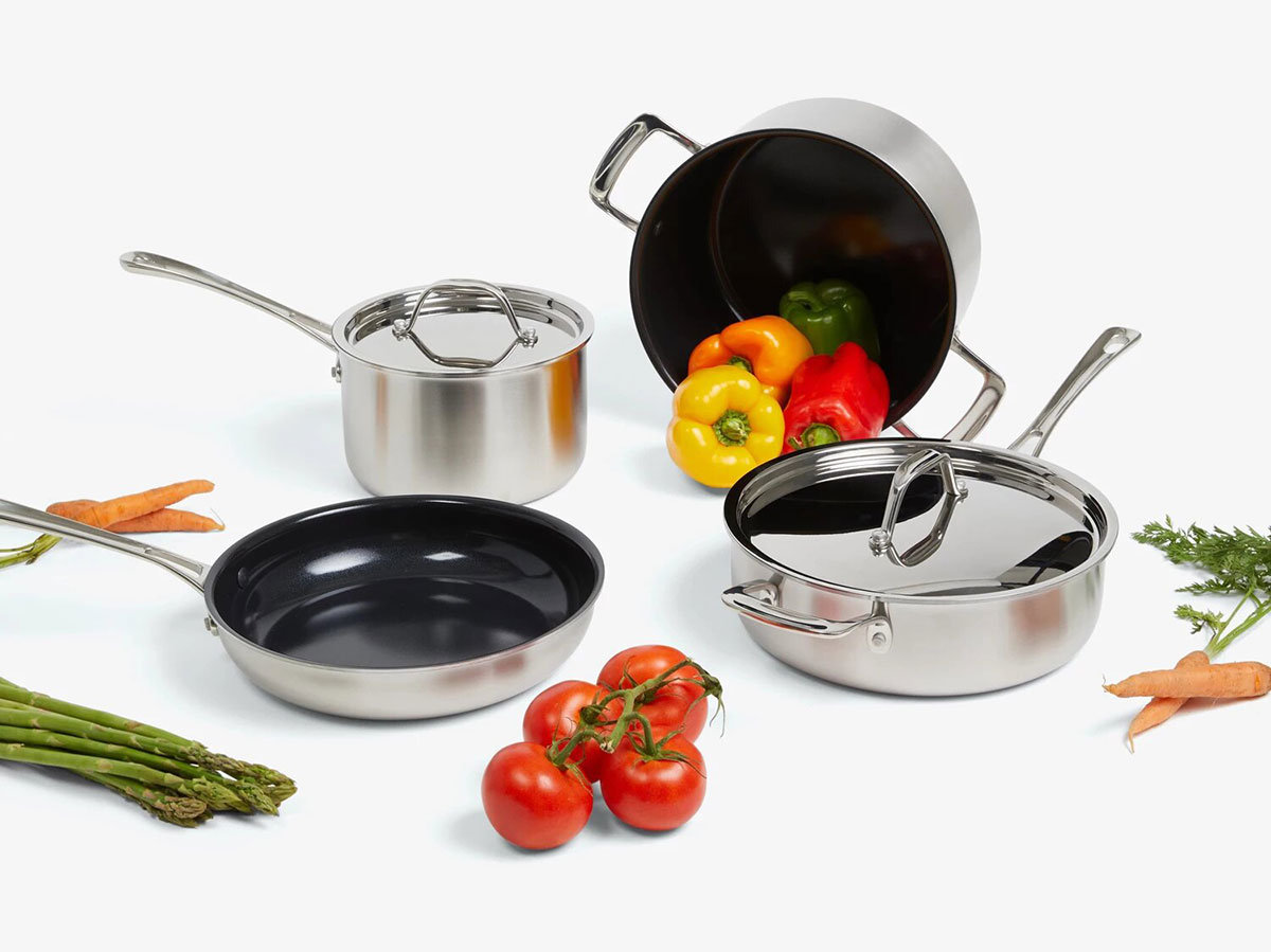 Zest 7-Piece Ceramic Cookware Set