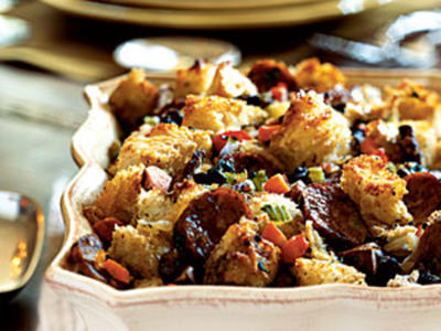 Herbed Bread Stuffing with Mushrooms and Sausage Recipes