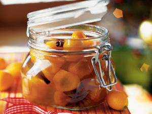 Kumquats in Spiced Syrup with Cloves, Cinnamon, and Star Anise
