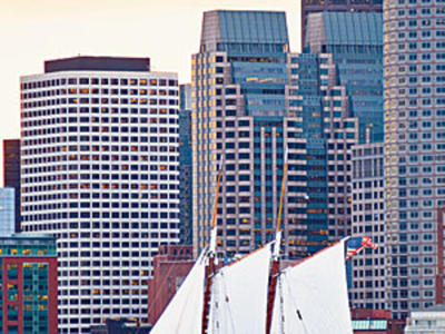 Boston offers beautiful views from the water.