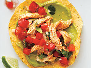 Healthy Chicken and Guacamole Tostadas Recipes