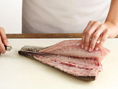 How to cut a fish fillet