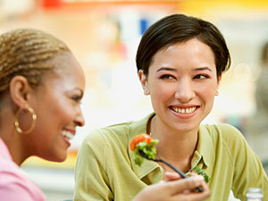 Fast Food Nutrition: Women in Food Court