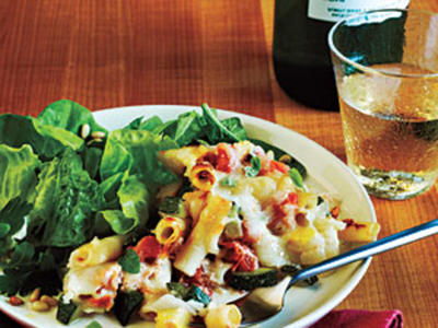 Baked Ziti and Summer Veggies Recipe
