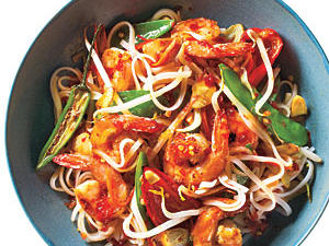 Sweet and Spicy Shrimp with Rice Noodles