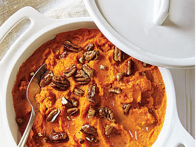 Butter-Pecan Mashed Sweet Potatoes