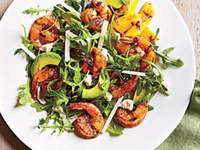 Lemony Grilled Shrimp Salad