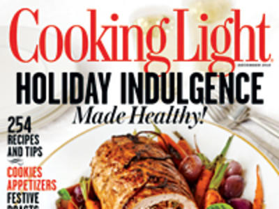 Cooking Light December 2012 Cover