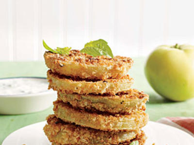 "Lighter ""Fried"" Green Tomatoes"