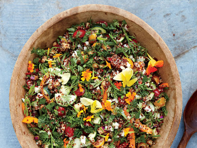Tracy Singleton's Sprouted Quinoa with Marinated Veggies