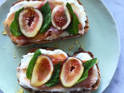 Prosciutto Fig  Goat Cheese Toast image