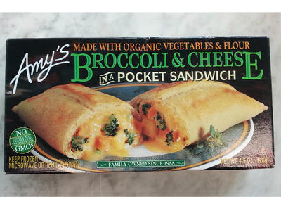 Amy's Broccoli Cheese Sandwich Frozen Food