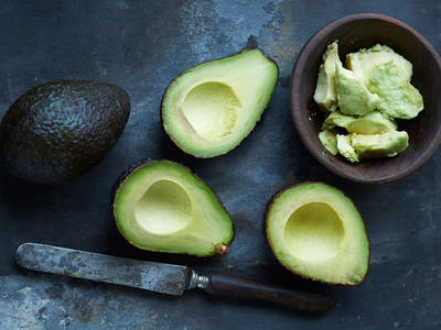 Whole Mashed Sliced Avocado