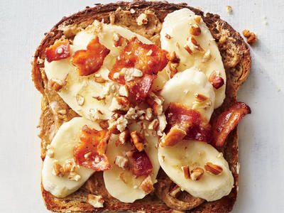 Banana-Bacon-Nut Toast