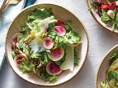 Radish and Parmesan Salad
