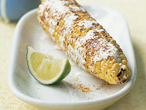 Healthy Grilled Mexican Corn with Crema Recipe