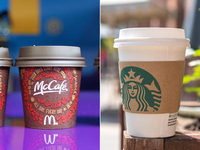 McDonald's and Starbucks Cups
