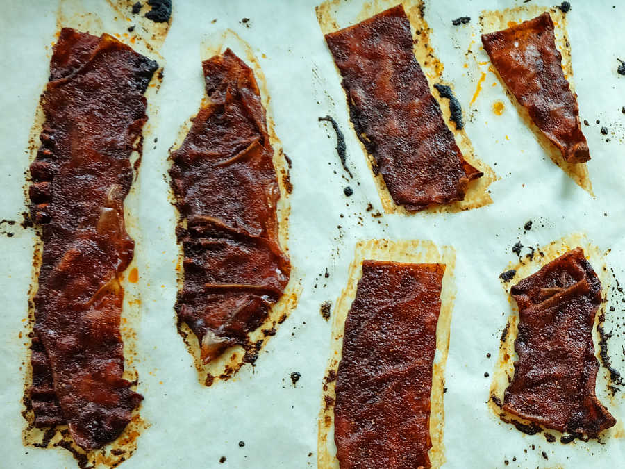 Cooked Rice Paper Bacon