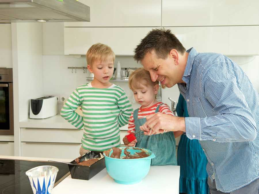 Dad Cooking with Kids