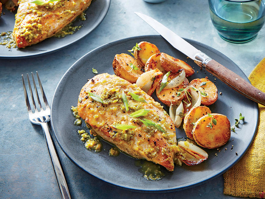 Seared Chicken Breasts with Green Piri Piri Sauce