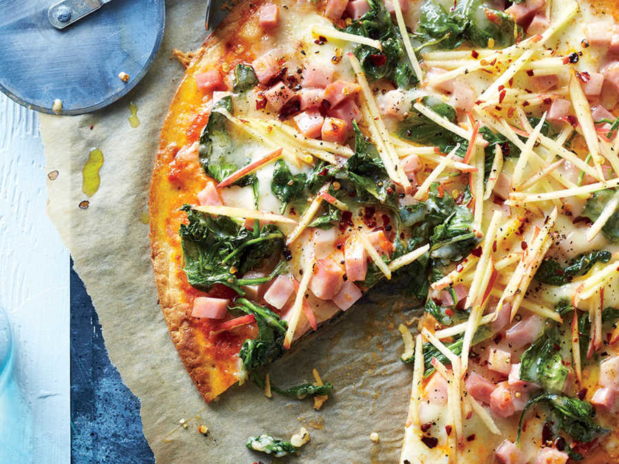 Ham and Cheese Pizza