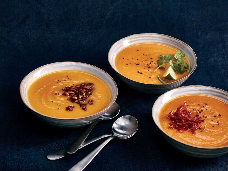 Pumpkin Soup Three Ways
