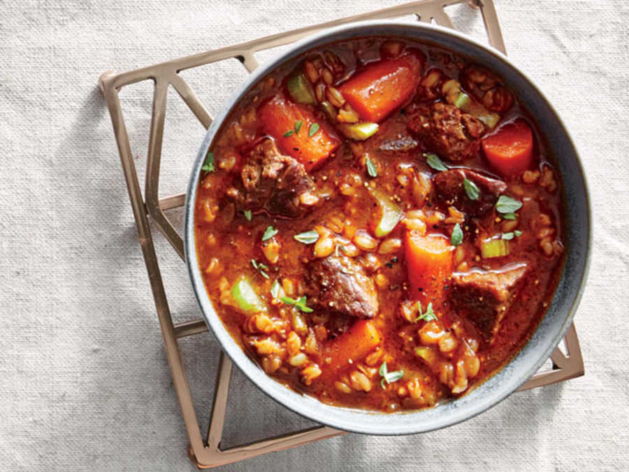 Slow Cooker Beef-and-Barley Stew