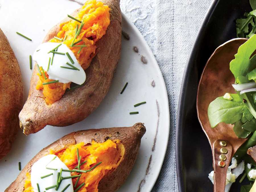 Mini Baked Sweet Potatoes