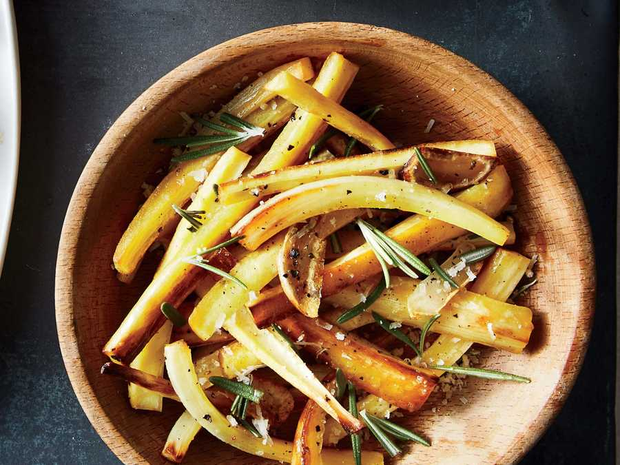 Roasted Parsnips with Rosemary, Garlic, and Parmesan