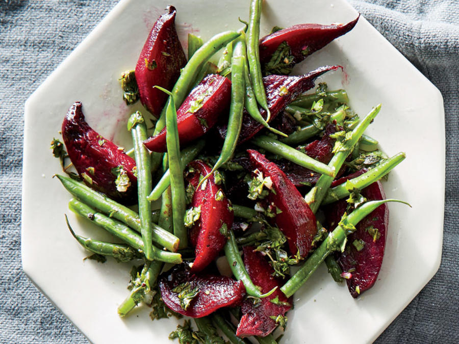 Speedy Beet and Bean Salad with Herb Vinaigrette Recipe - Cooking ...