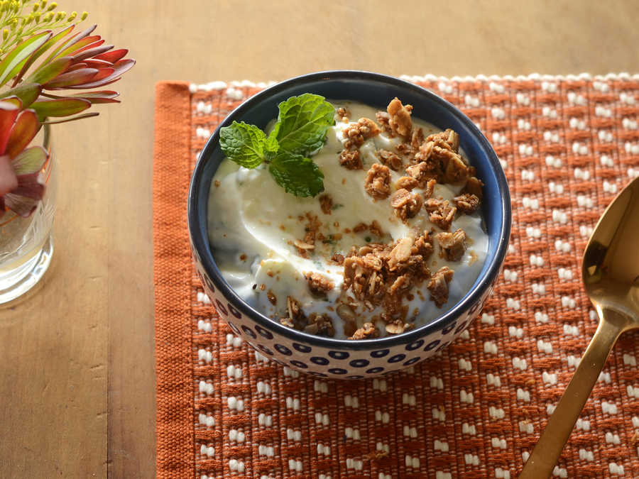 Cucumber Yogurt Cup with Mint