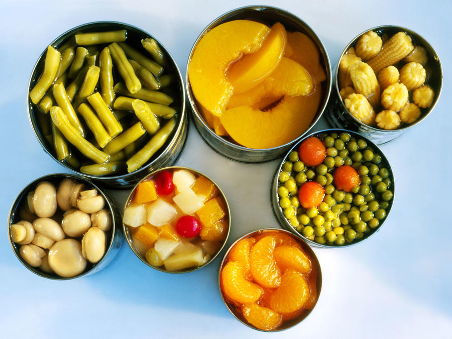 Canned Fruit and Vegetables