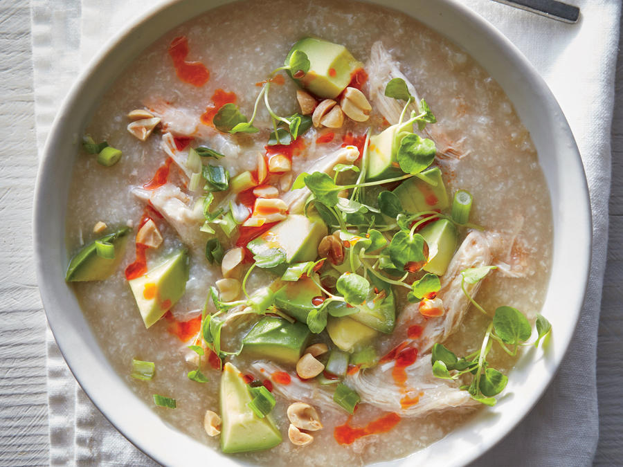Slow Cooker Chicken Congee Recipe - Cooking Light