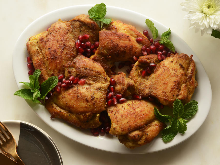 Pomegranate Curry Chicken