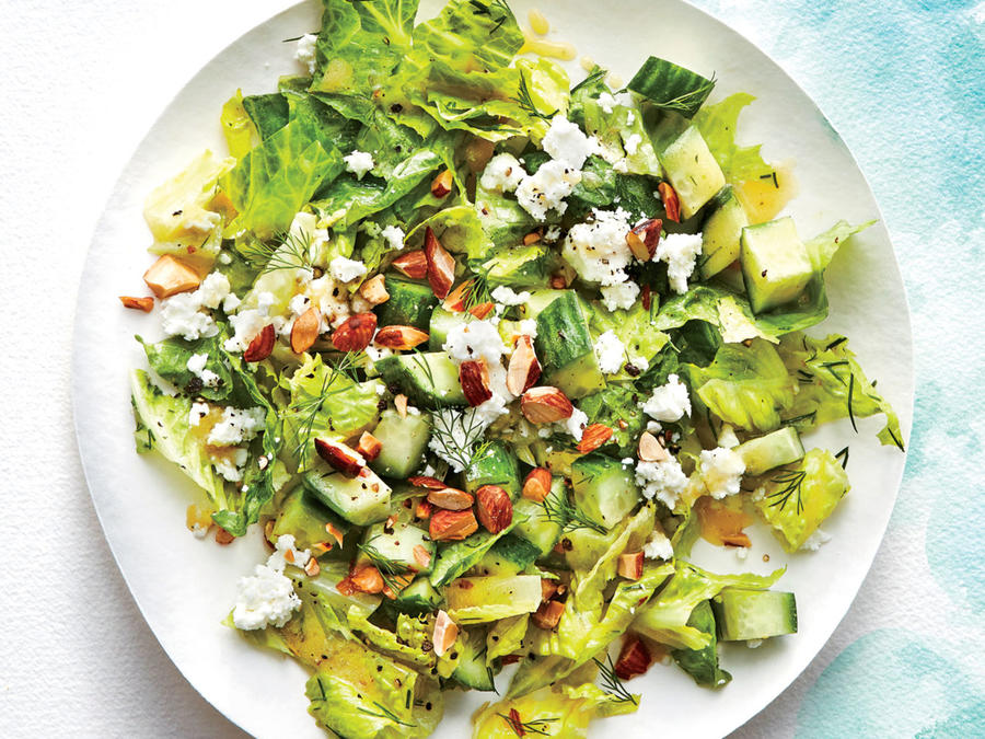 Crunchy Cucumber, Feta, and Almond Salad