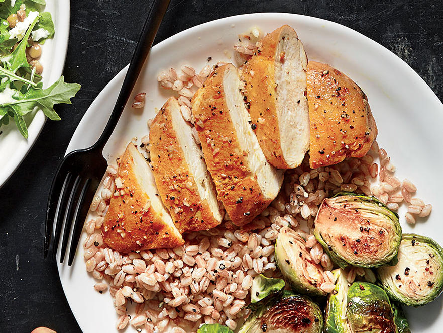 turmeric roasted chicken with farro recipe cooking light