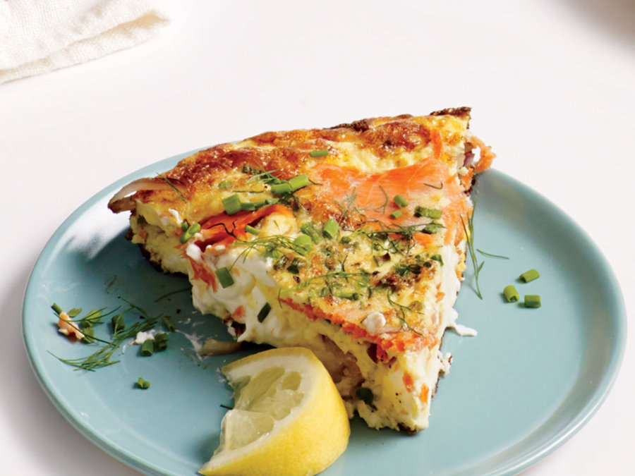 Creamy Smoked Salmon and Dill Frittata
