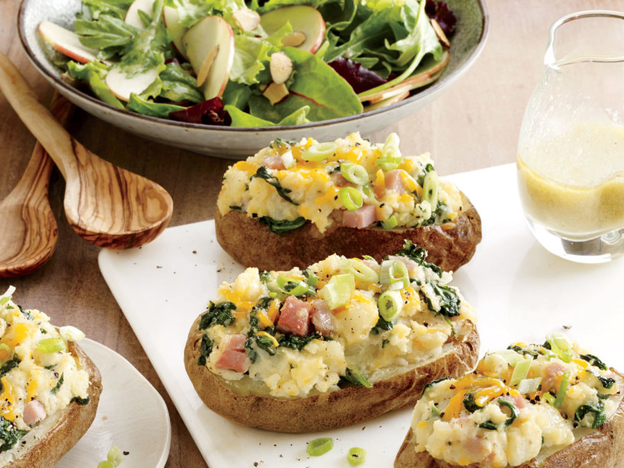 spinach-ham-stuffed-potatoes